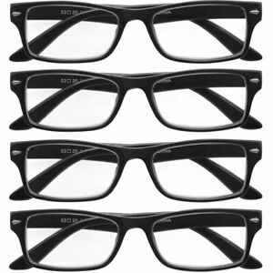 Reading Glasses Mens Womens 4 Pack Square Readers Classic Style Retro New Look