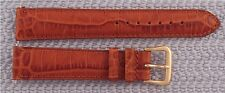 Hadley Roma 18mm Cognac Alligator Grain Genuine Leather Watch Band New Strap #97