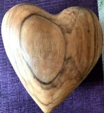 Hand Craved Wood Heart Shaped olive oil tree from Holy Land Love Symbole