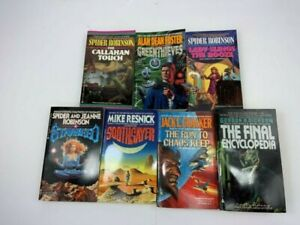 Mixed Lot of 7 Vintage 1980's, & 1990's ACE  Science Fiction Paperback Books