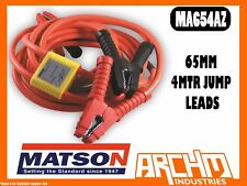 MATSON MA654AZ 65MM 4MTR JUMP LEADS WITH ANTI-ZAP - BATTERY AMP CLAMPS INSULATED