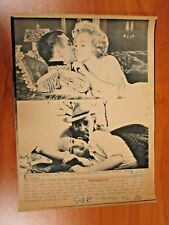 Vintage AP Wire Press Photo Marilyn Monroe, Laurence Olivier & Clark Gable