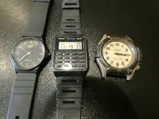 Casio Mens 3pc Analog Watch Lot  MQ-24, CA-53W 1330, FT-500