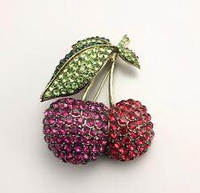 "Heidi Daus ""Cherry on Top"" Crystal Cherry Pin"