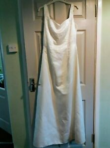Wedding Dress size 14 Hilary Morgan with detailed beaded bodice never used/worn