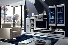 Wall Unit Furniture Set Gloss TV Units Display Cabinets Shelves LED
