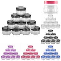 12Pcs 5g Mini Clear Plastic Empty Jar Pot Travel Cosmetic Sample Containers Box