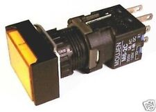 16 MM PUSHBUTTON 24V AMBER RECTANGULAR REPLACE IDEC L6