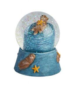 Genuine Ravensden 8cm Sea Otter Snow Globe - Colour Animal Gift NEW