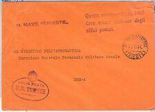 ITALIA  - FRANCHIGIA MILITARE: MARINA - Nave : TRIESTE 1941
