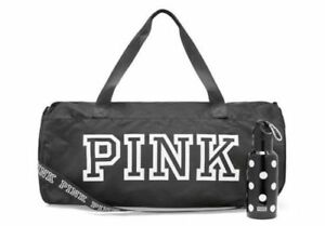 Victoria's Secret PINK FRIDAY Duffle Water Bottle Travel Gym Bag Tote Rare Gift