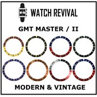 HQ GENERIC SNAP FIT BEZEL INSERT FOR ROLEX GMT MASTER II ALL TYPES AVAILABLE UK