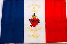 DRAPEAU Sacré Coeur  FRANCAIS bandiera flag france catholique roi jésus Jmj roy