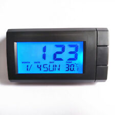Portable Mini Digital Clock Date Time Temperature For Car Dashboard Table Desk