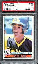 1979 Topps #116 Ozzie Smith RC PSA 7 HOF San Diego Padres