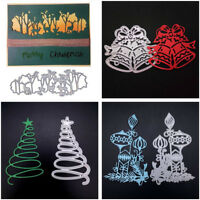 DIY Elk Forest Xmas Tree Metal Cutting Dies Stencil Scrapbook Paper Card Craft
