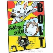 90475689205 Disney Pin 66284  1 2008 Dog Bolt Hamster Rhino Cat Mittens Kitten LE 2500