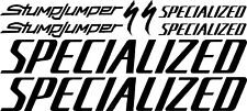 Specialized Stump Jumper New Design Large Set Decals/Stickers (Gloss Black)