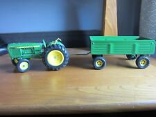 John Deere toy tractor and cart