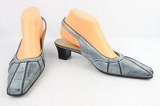 7b291b4d2b Escarpins Trotteurs SIMONA Fashion Cuir Gris Bleu UK 6,5 / Fr 40 ETAT NEUF