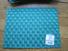 6 NWT Green Woven Washable Heat Resistant Saleen Placemats Made in Germany