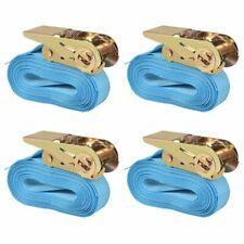 vidaXL 4x Spanband 0,8 Ton 6 m x 25 mm Blauw Sjorband Spangordel Bagagegordel