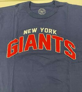 $38 NWT New York Giants '47 Stitched Logo Tee T shirt NY NFL Big Blue SMALL S