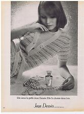 PUBLICITE ADVERTISING 104 1974 JEAN DESSES sweaters parfums