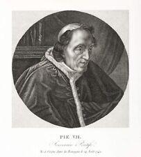 PIUS VII. - LUIGI BARNABA - BILDNIS - Kupferstich 1805