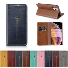 Magnetic Case for iPhone 6 7 8 Plus 5 Se 11 Pro XS Max Flip Wallet Leather Cover