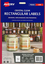 Avery Crystal Clear Rectangular Labels (980019)