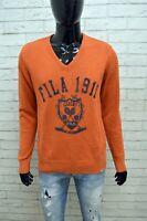 Maglione Uomo FILA ACADEMY Taglia M Maglia Felpa Scollo a V Sweater Man Cardigan