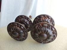 #1 Superbe ancien paire 2 poignées ronde rosace fonte diamètre 80mm porte entrée