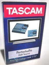 Tascam portastudio audio dvds video dvd help tutorial training lesson