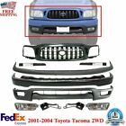 Front Bumper Primed Steel Grille Kit With Brackets For 2001-2004 Toyota Tacoma