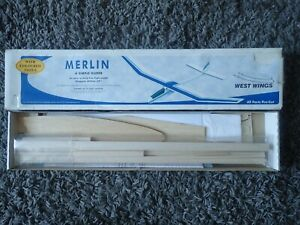West Wings WW14 Merlin Glider Balsa Model Kit : 890mm Wingspan