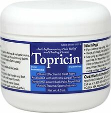 NEW Topricin Pain Relief Cream Moisturizing For Arthritis And Joint 4 oz