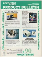 Laser Focus World Product Bulletin Spring 1990 (22 pgs)