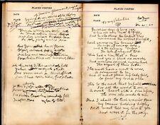 1920's Handwritten Diary MacGowan Family Pittsburgh PA Fathers Husbands Tributes