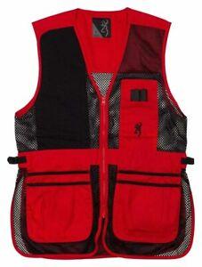 Browning Trapper Creek Mesh Shooting Vest-Red/Black