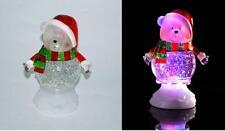 Eisbär Weihnachts-dekor Glitzer Kuppel Farb Verändernd LED Weihnachten Licht