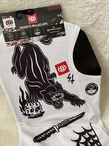686 Granite Balaclava Black & White Big Cats 4 Way Stretch