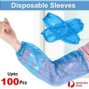 Disposable Protective Plastic Arm Sleeve Cover Waterproof Hand Sleeves Upto 100x