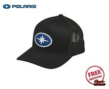 POLARIS PATCH HAT TRUCKER CAP BASEBALL RZR RMK SPORTSMAN ACE BLACK