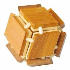 "Bambus-Puzzle ""magische Box"" IQ-Test Knobelspiel Holz"