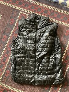 The North Face Black Full Zip Down Fill Packable Puffer Vest Mens Size M