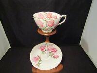 ROSLYN Tea Cup and Saucer Magnolia Demitasse