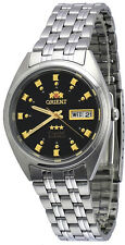 Orient FAB00009B Men's 3 Star Stainless Steel Black Dial Automatic Watch