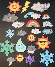 Weather foam stickers, rainbow, sun, scrapbooking, cardmaking, kids crafts