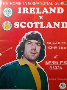 NORTHERN IRELAND v SCOTLAND,13/5/78. HOME INTERNATIONAL(HAMPDEN PARK)